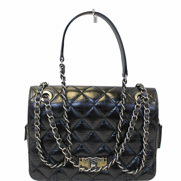 b391a3128d81fa CHANEL Bags | Cc Quilted Leather Flap Crossbody Bag Black | Poshmark